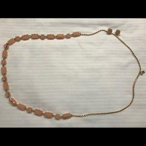 Kate Spade Blush Peach Gold Necklace Earrings Set